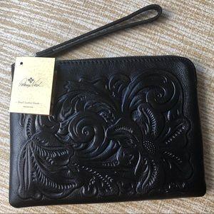 Patricia Nash Cassini Leather Tooled Wristlet NWT
